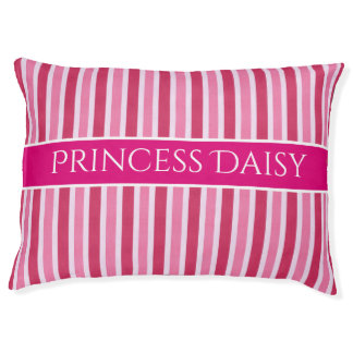 Pink & Girly Personalized Pet Bed