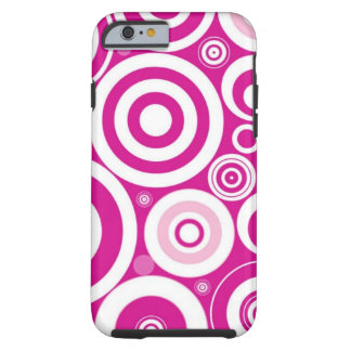 Pink Girly Retro Funky Circles Pattern iPhone 6 Case