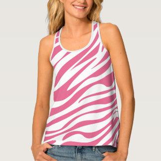 Pink Girly Zebra Print Tank Top