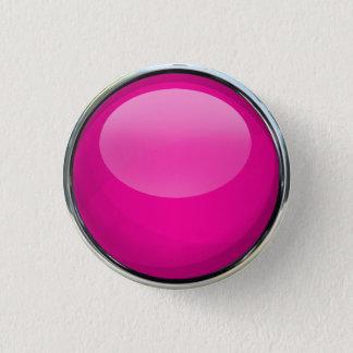 Pink Glass Ball 3 Cm Round Badge