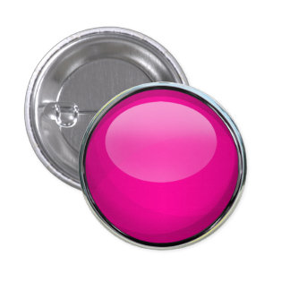 Pink Glass Ball 3 Cm Round Badge