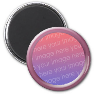 pink glass photo frame refrigerator magnet