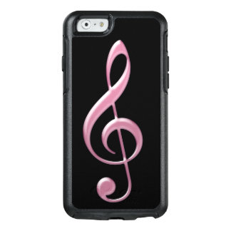 Pink Glass Treble Clef iPhone 6/6s Case