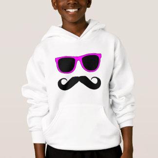 Pink Glasses Mustache Retro