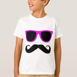 Pink Glasses Mustache Retro T-Shirt
