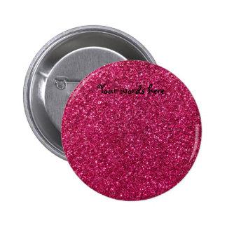Pink glitter 6 cm round badge