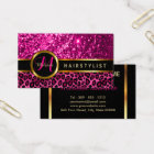 Pink Glitter and Leopard Skin - Hairstylist Business Card