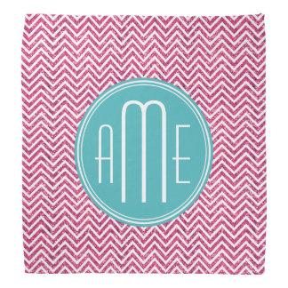 Pink Glitter and Mint Custom Monogram Kerchiefs