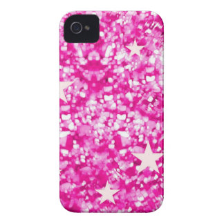 Pink glitter and stars iphone 4 barely case