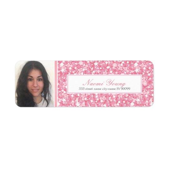 Pink Glitter And Stripe-Graduate Photo
