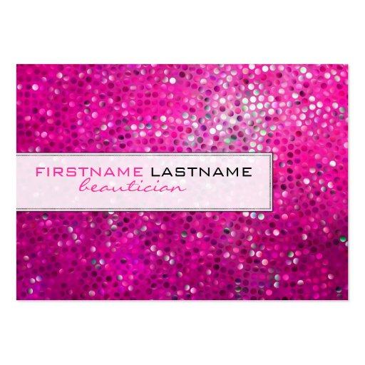 Pink Glitter Beautician Business Card Business Cards