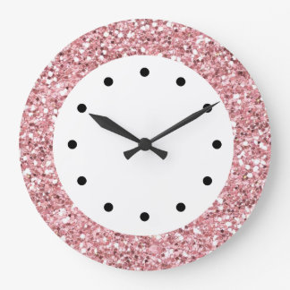 Pink Glitter Bling Clocks