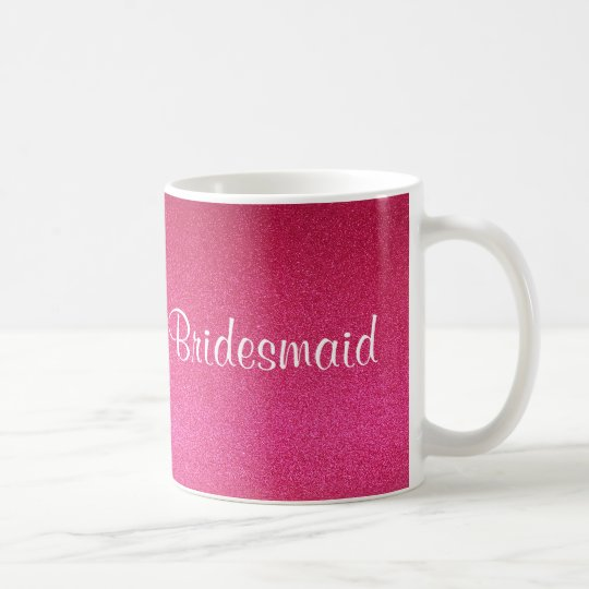 Pink Glitter Bridesmaid Mug