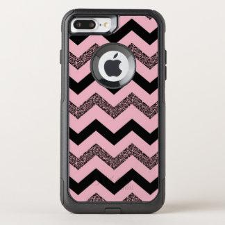 Pink Glitter Chevron iPhone 8/7 Plus Otterbox Case