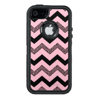 Pink Glitter Chevron iPhone SE/5/5s Otterbox Case