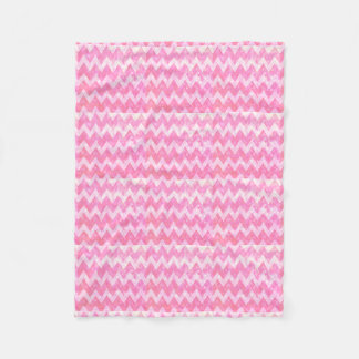 Pink Glitter Chevron Pattern Fleece Blanket