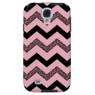 Pink Glitter Chevron Samsung Galaxy S4 Case