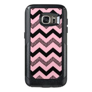Pink Glitter Chevron Samsung Galaxy S7 Otterbox