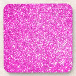 Pink Glitter Drink Coasters