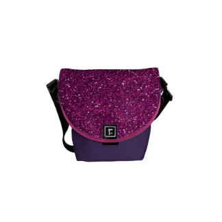 Pink Glitter Courier Bag