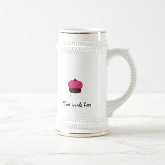 Pink glitter cupcake coffee mug