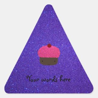 Pink glitter cupcake purple glitter stickers