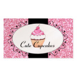 Pink Glitter Cute Cupcake Bakery Pack Of Standard Business Cards