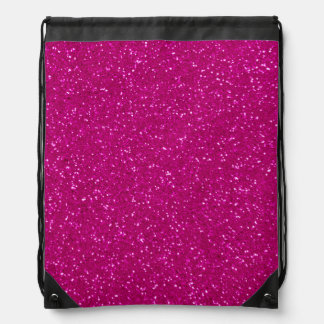 Pink Glitter Drawstring Bag