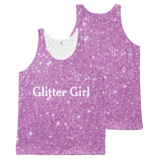Pink Glitter Girl Show Your Sparkle All-Over Print Tank Top