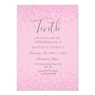 10th birthday invitations zazzle uk
