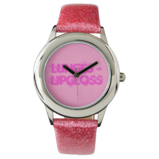 Pink Glitter Girly Watch