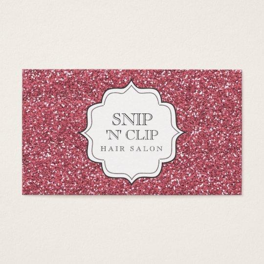 Pink Glitter Glitz Glam Hair Stylist Cards