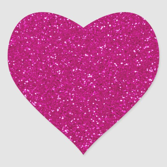Pink Glitter Heart Sticker