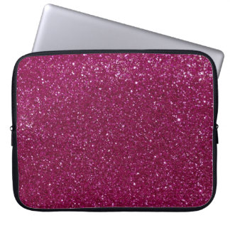 Pink Glitter Laptop Sleeve