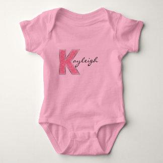 Pink Glitter letter K Shirt