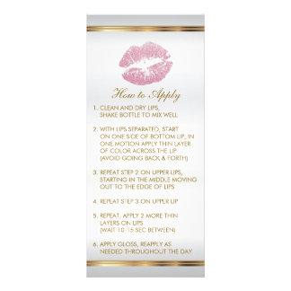 Pink Glitter Lip Instructions 2 Rack Card