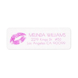 Pink Glitter Lips & Dots Pattern