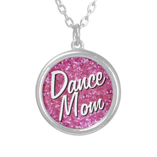 Pink Glitter-Look Dance Mum Necklace
