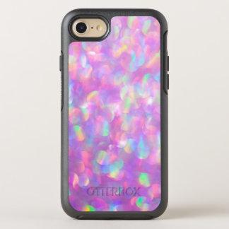 Pink Glitter Luxury Rainbow Light Flecks Sunflecks OtterBox Symmetry iPhone 7 Case