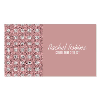 Pink glitter makeup hair and nails stylist pack of standard business cards