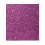 Pink Glitter Memo Note Pads