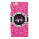 Pink Glitter Monogrammed Case Savvy iPhone 6 Case