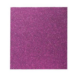 Pink Glitter Notepad