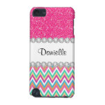 Pink Glitter Pastels Chevron 5G iPod Touch Case