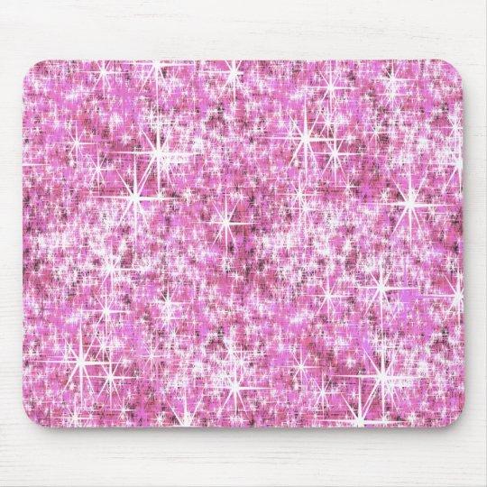 Pink Glitter Pattern Mouse Mat
