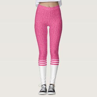 Pink glitter pattern stylish leggings