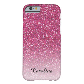 Pink Glitter, Personalized iPhone 6 case Barely There iPhone 6 Case