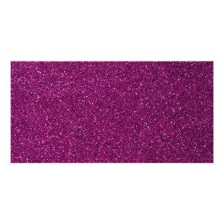 Pink Glitter Photo Card