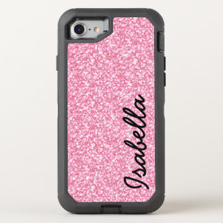 PINK GLITTER PRINTED OtterBox DEFENDER iPhone 8/7 CASE
