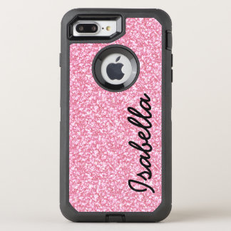 PINK GLITTER PRINTED OtterBox DEFENDER iPhone 8 PLUS/7 PLUS CASE